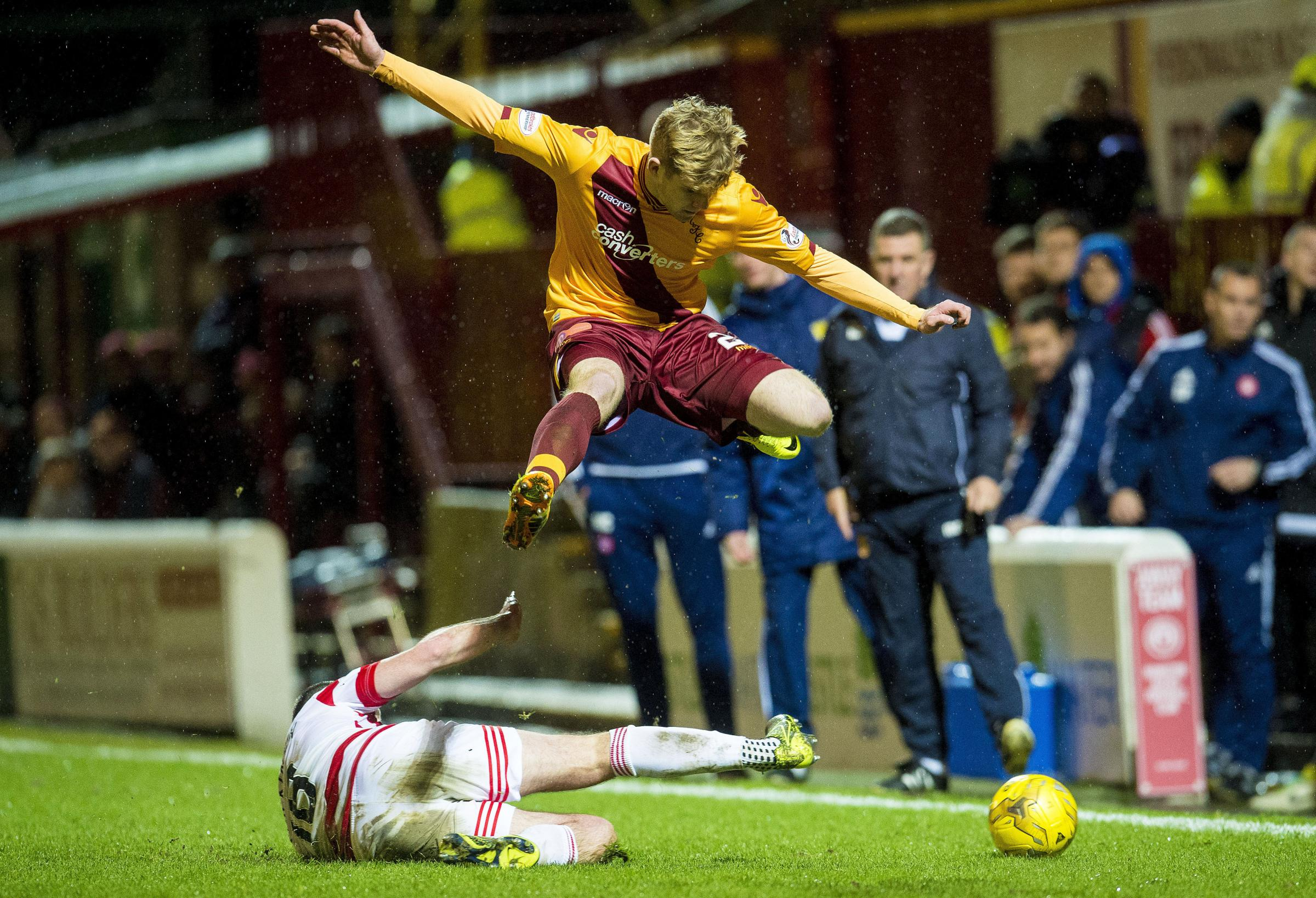 Chris Cadden, pictured here playing for Motherwell against Hamilton earlier this month, relished his first start
