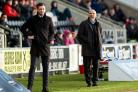 30/01/16 LADBROKES CHAMPIONSHIP  .  ST MIRREN v ALLOA .  PAISLEY 2021 STADIUM - PAISLEY .  Alloa manager Jack Ross (left) and St Mirren manager Alex Rae.. (54285355)