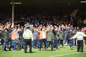 Motherwell guilty of SPFL rules breach after pitch invasion at the end of Fir Park play-off victory over Rangers