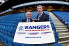 Willie Henderson promotes the Rangers Youth Development Company with Colin Stewart at Ibrox