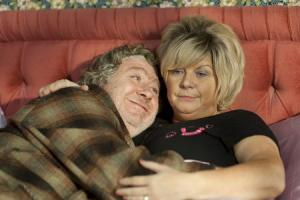Shed where Rab C Nesbitt and Mary Doll lit fires of passion is torched