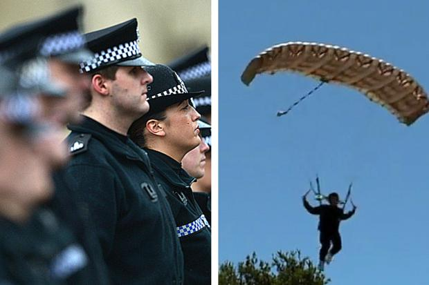 Mystery man parachutes into Glasgow city centre at midnight - and then vanishes