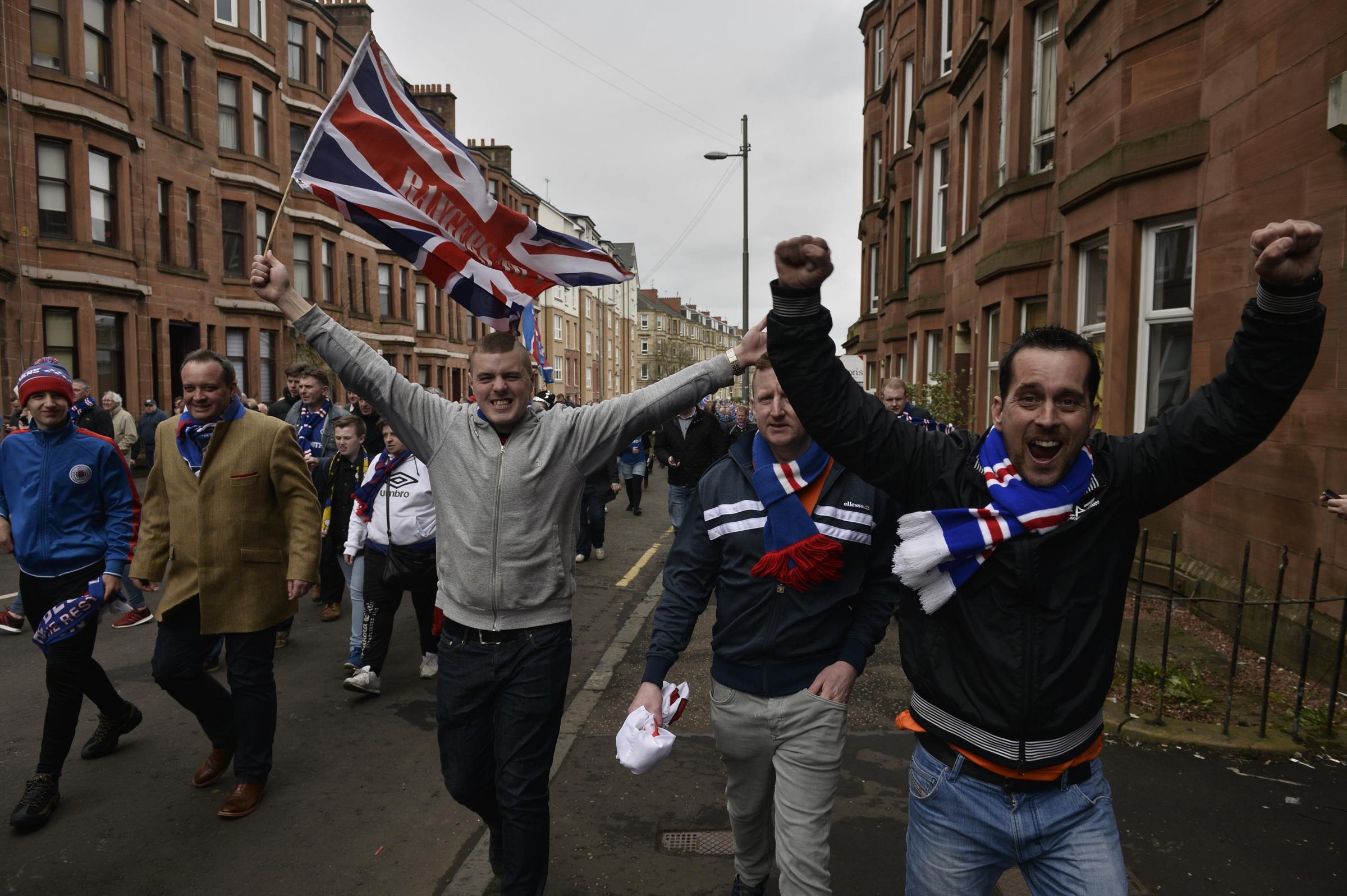 It was the Rangers supporters who had more to sing about after the Old Firm semi-final