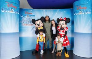 Evening Times: In pictures: Glasgow Warriors and Celtic stars watch Disney on Ice with families