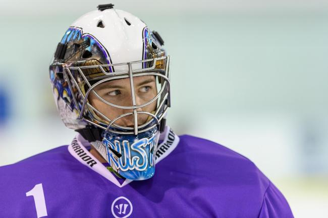 The netminder from Glasgow made 20 appearances for the Purple Army last season