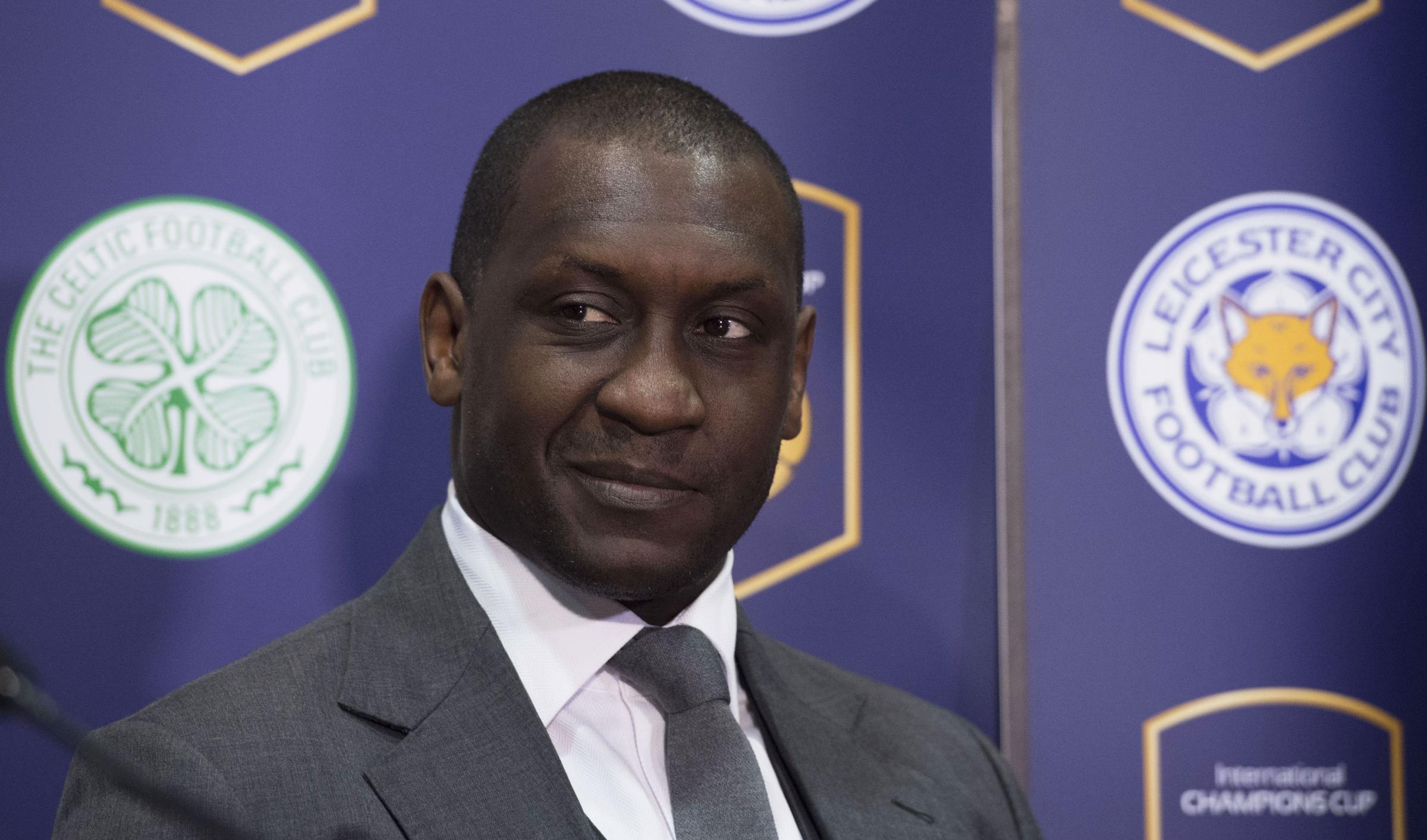 Emile Heskey speaking before the forthcoming match between the Scottish and English title winners, in the International Champions Cup tournament.