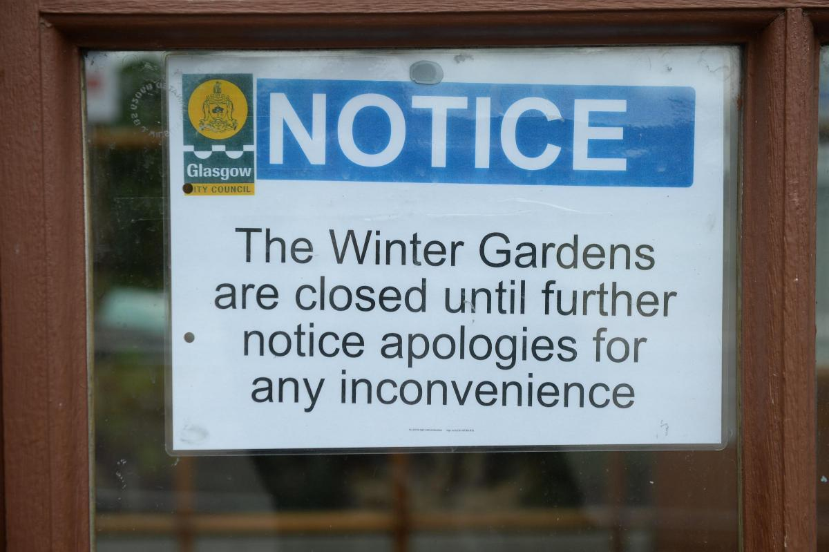glasgow u0027s winter gardens could be closed for a year evening times