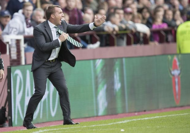 Evening Times: Brendan Rodgers manager of Celtic shouts out his orders to his players