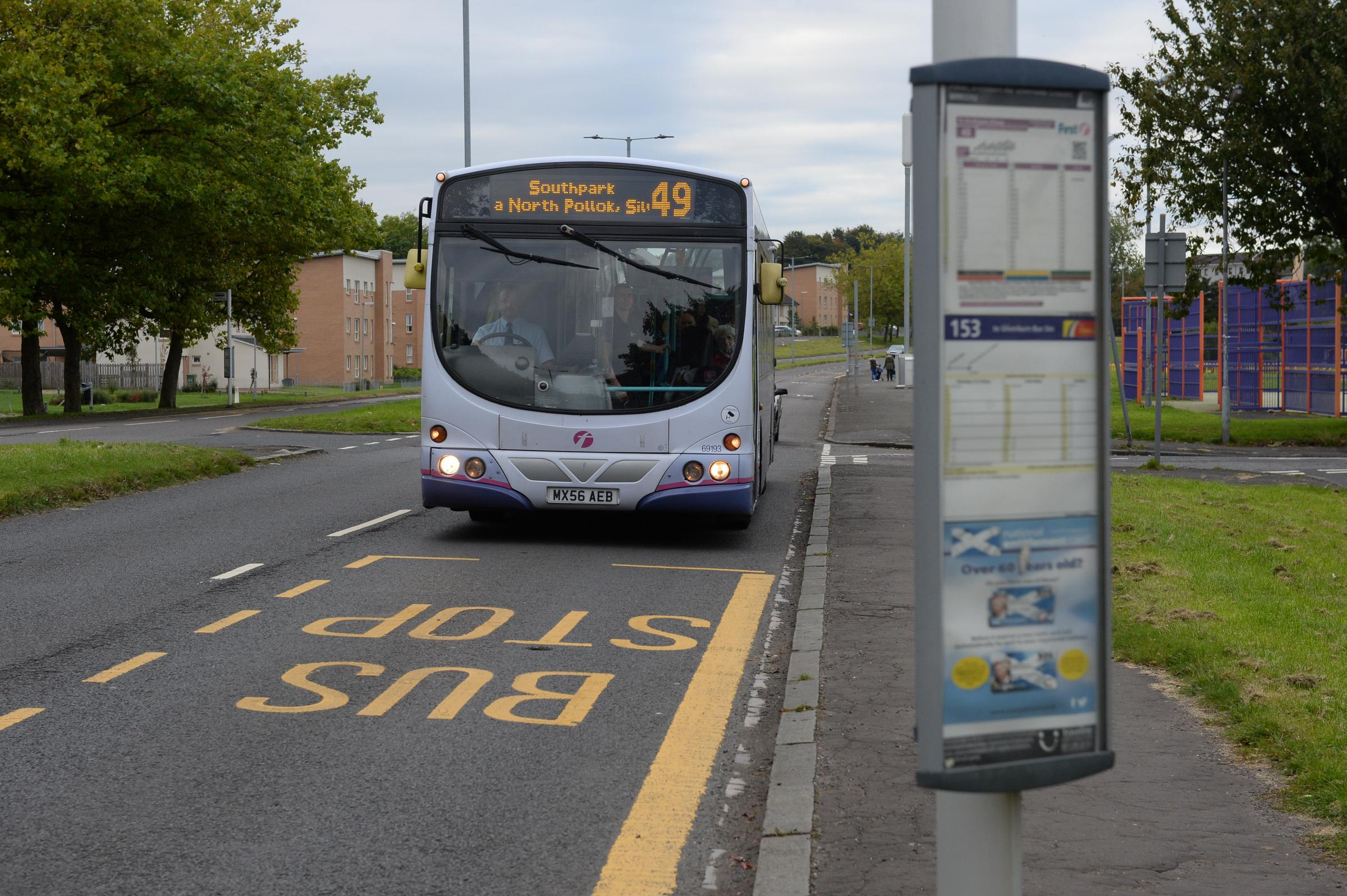 The No. 49 bus. Picture credit: Kirsty Anderson/ Herald and Times