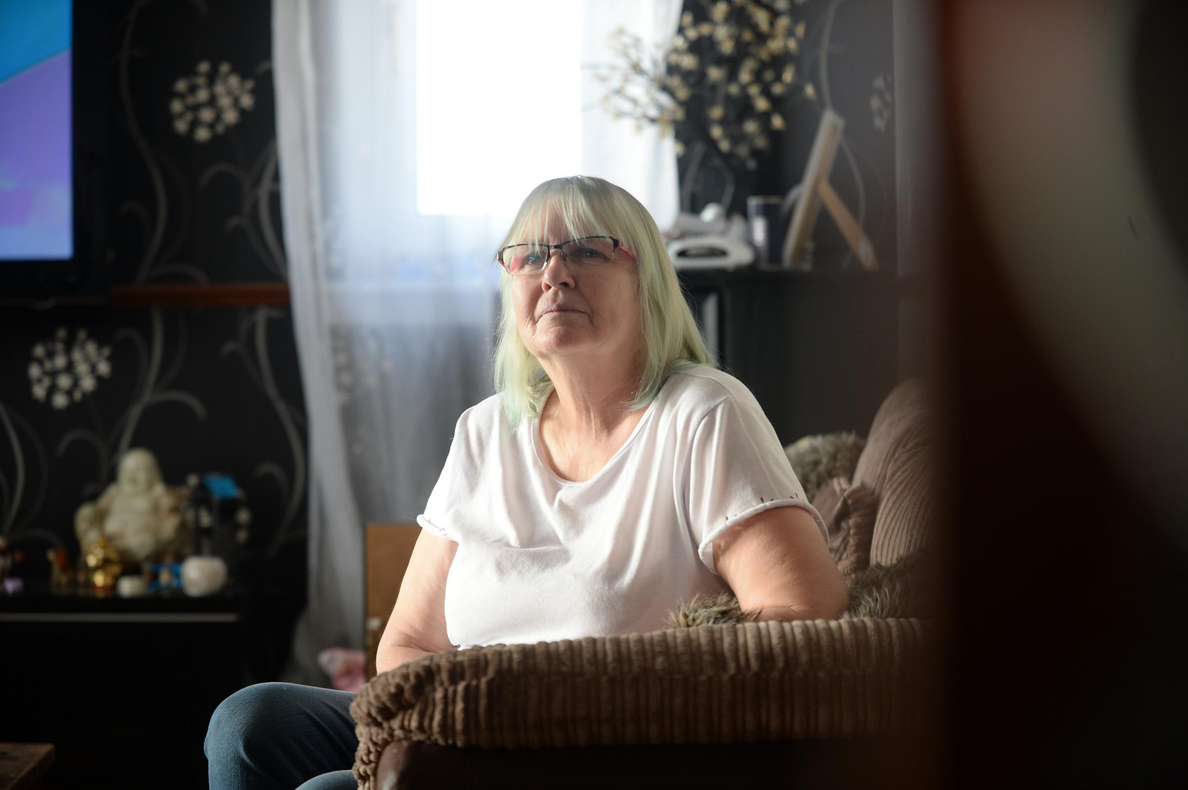 Mary Smith who has been waiting for an operation to help her for more than a year after her surgeon left the health board and a replacement was not found.  (Photo by Kirsty Anderson)