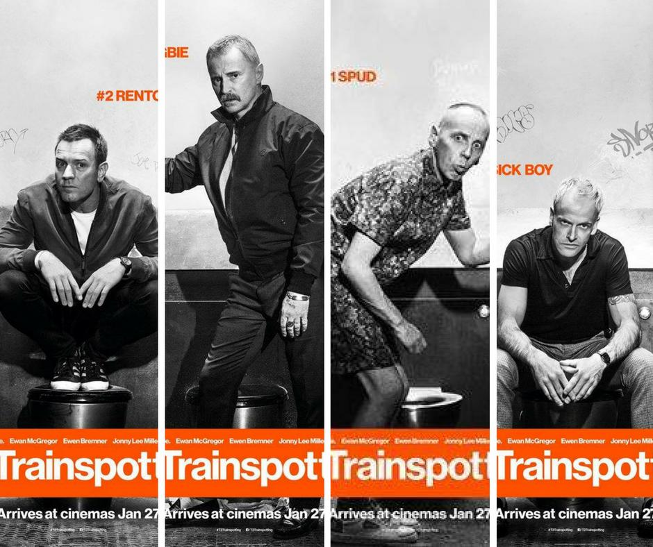 Trainspotting 2: Character posters of the cast in THAT toilet