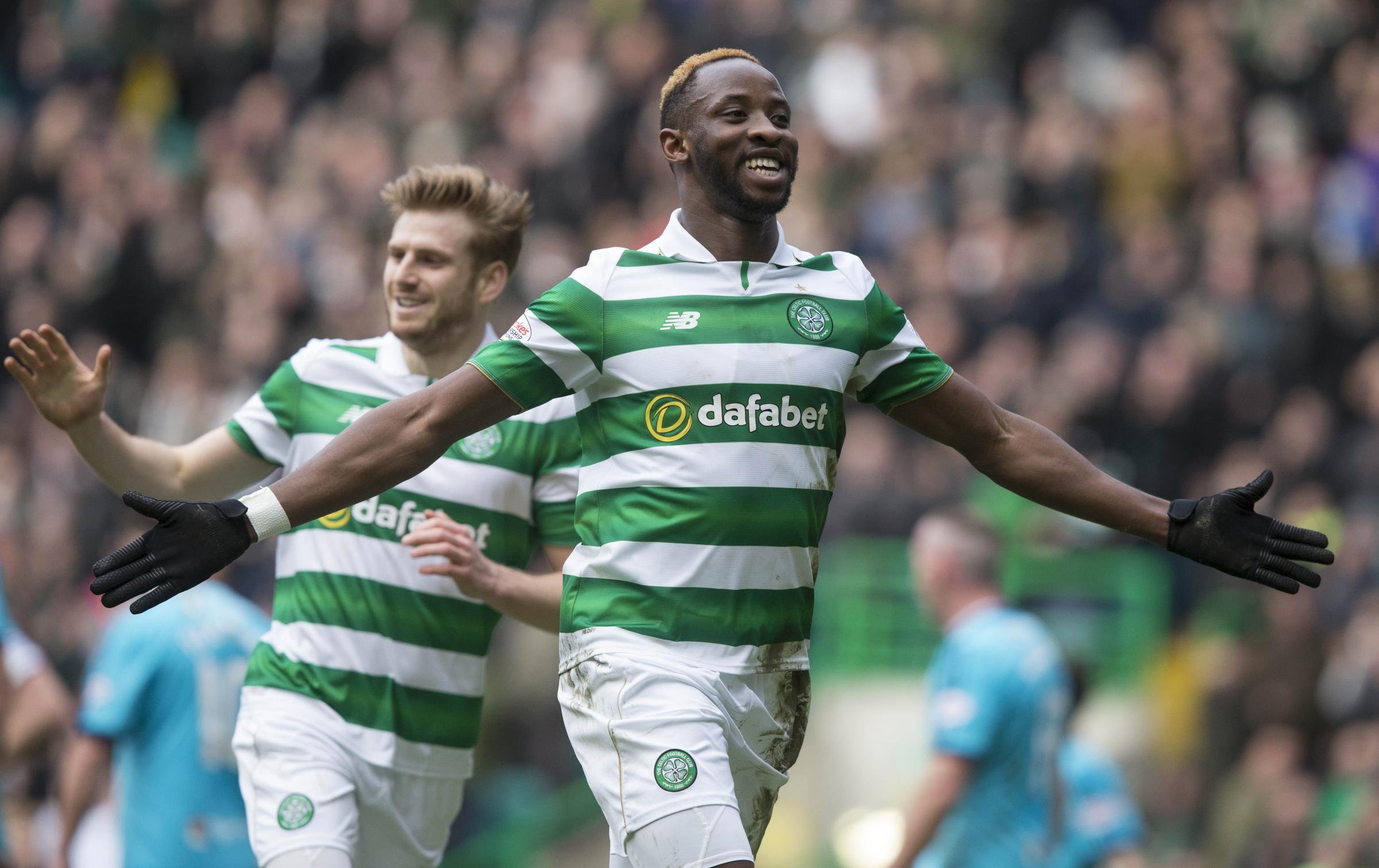 Celtic 2, Hamilton 0; Moussa Dembele double sews up another three points for Brendan Rodgers's unbeaten side
