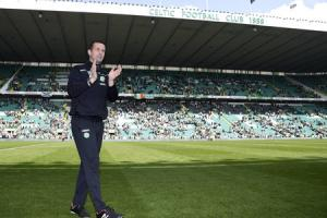 Celtic manager Ronny Deila after a 3-2 win against Aberdeen last May. Picture: SNS