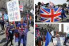 Members of the British In Italy group are also taking part in a demo in support of the EU in Rome (Credit: AP Photo/Gregorio Borgia)