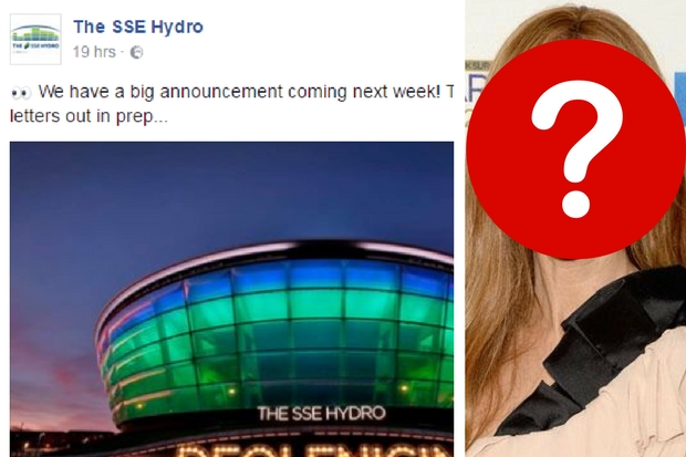 SSE Hydro hints one of the world's biggest-selling artists is coming to Glasgow - and folk can't handle it