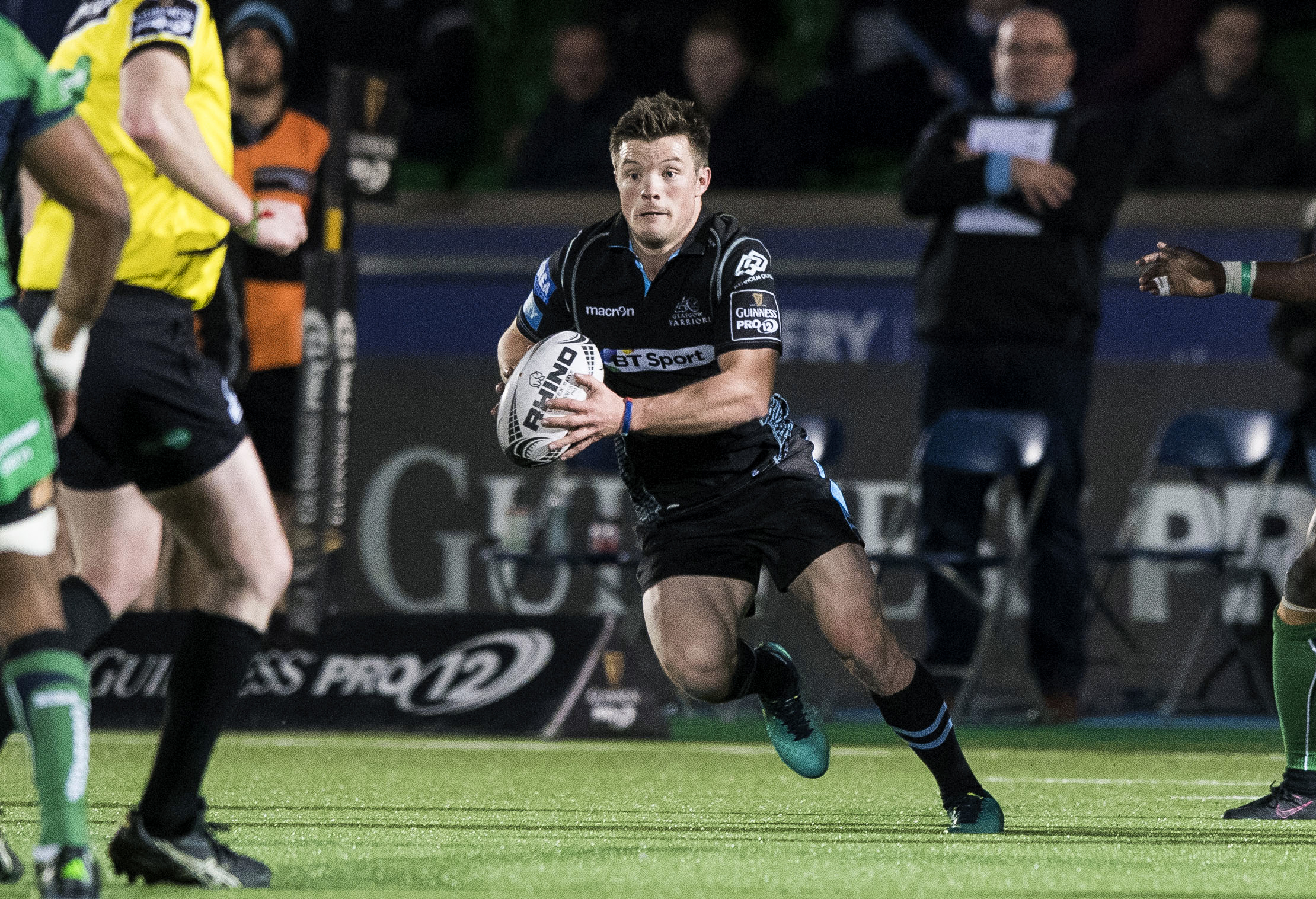 George Horne in action for Glasgow Warriors.