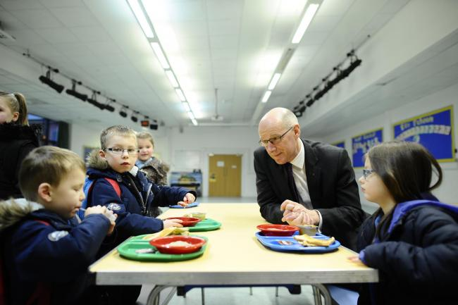 John Swinney visits Dalmarnock Primary to announce Pupil Equity Funding -JS. Photo by Jamie Simpson
