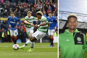 Scott Sinclair responds after a Gers supporter imitated a monkey in his direction