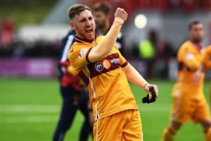 Prolific: Louis Moult has hit 18 goals in both of his seasons at Motherwell.