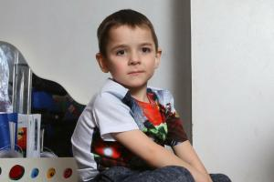 Zac Clark age 6 pictured at home in Glasgow. Zac has the rare genetic condition Riboflavin Transporter Deficiency...   Photograph by Colin Mearns.22 November 2016.
