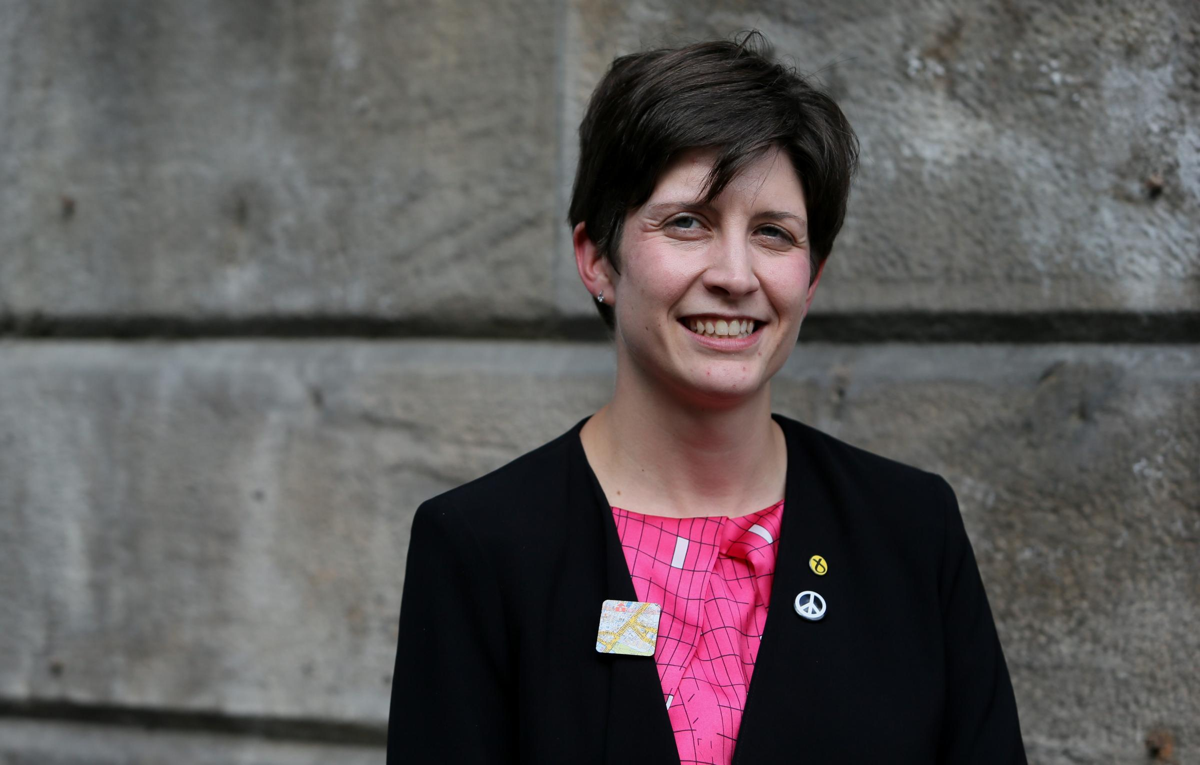 Glasgow Central MP Alison Thewliss  pictured outside her new office at 33 London Road, Glasgow.   Photograph by Colin Mearns2 October 2015