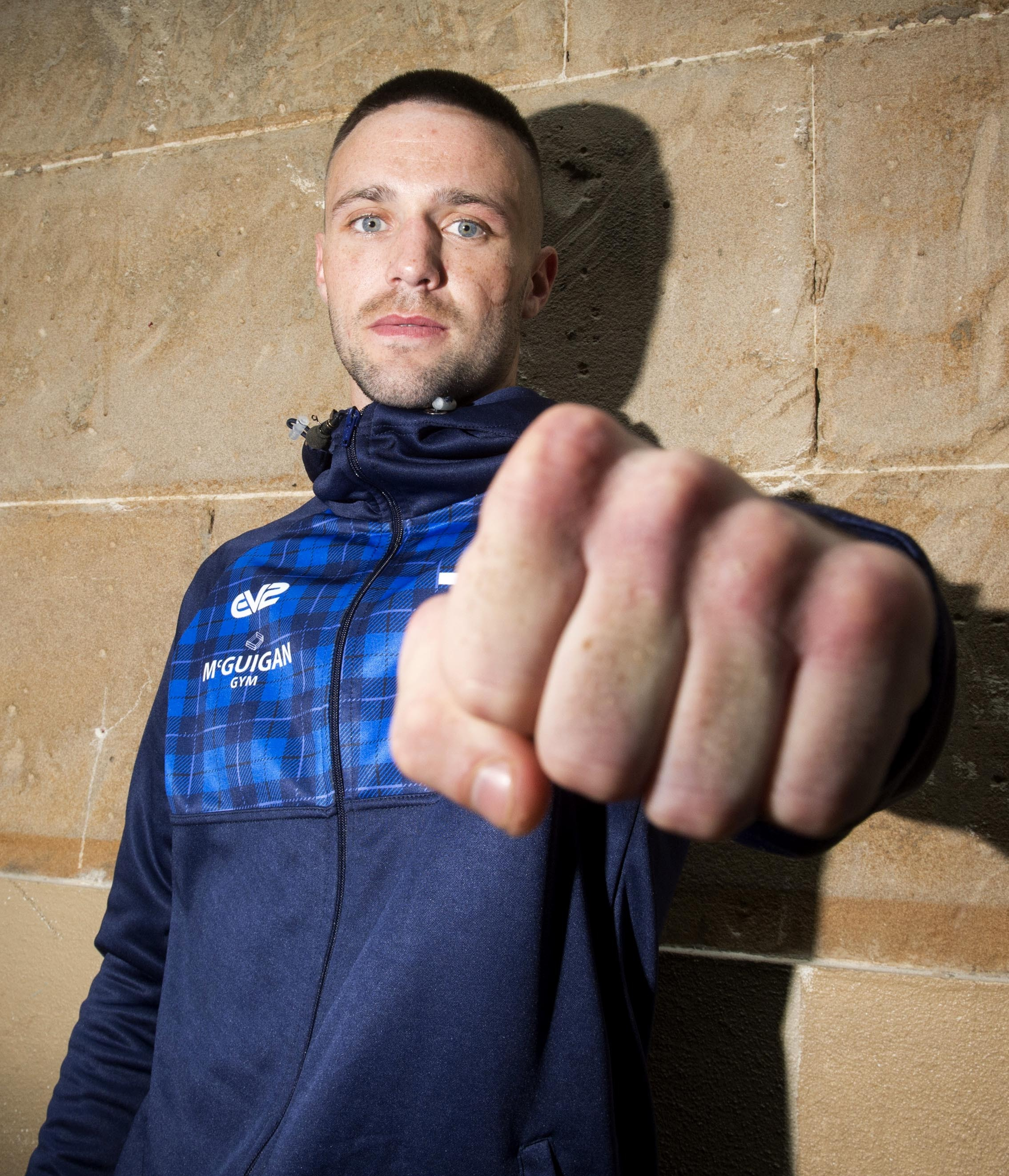 Packing a punch: Josh Taylor is confident he will have too much for O'Hara Davies.