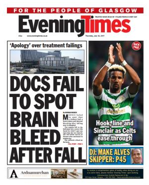 Evening Times: Today's front page of the Evening Times