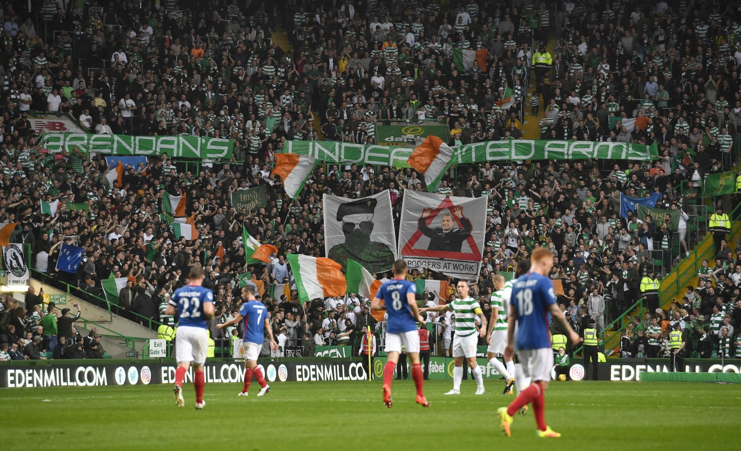 The Green Brigade will not be in attendance at Celtic Park for the games against Rosenborg and Hearts