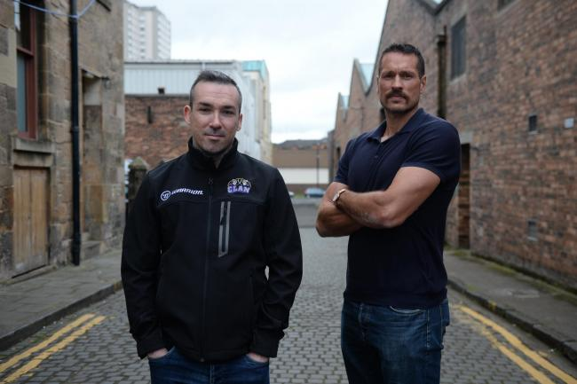 Braehead Clan ..John Tripp (right) new Braehead Clan head coach, and Gareth Chalmers, hockey and operations director... 11/8/17. (Photo by Kirsty Anderson/Herald & Times) - KA..