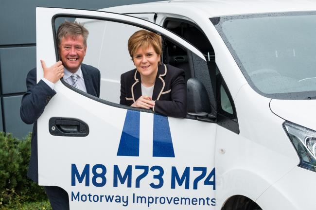 First Minister Nicola Sturgeon with Keith Brown, Cabinet Secretary for Economy, Jobs and Fair Work