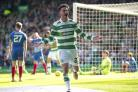Patrick Roberts celebrates for Celtic last season. A return for the player is believed to be imminent.