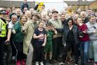 Game on as Jack and Victor meet fans during filming of new series in Castlemilk