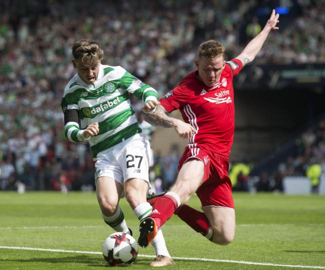 No quarter...Jonny Hayes is a huge fan of Patrick Roberts after the two clashed last season when the Irishman was still at Aberdeen