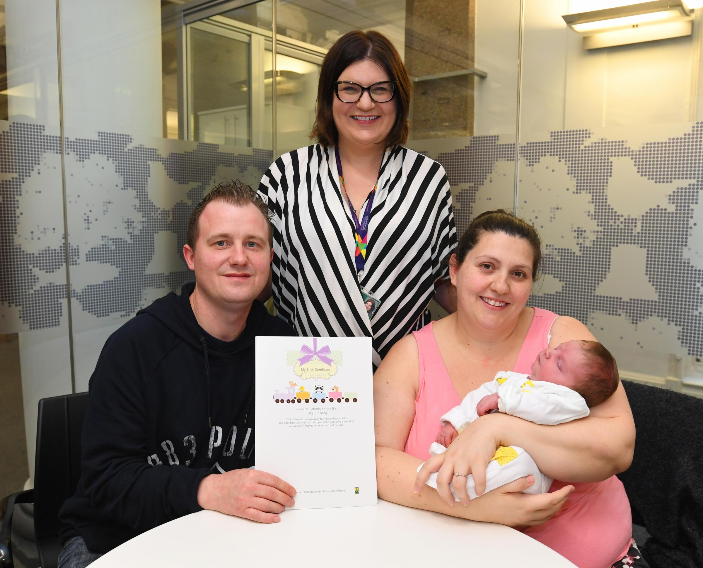 Susan Aitken with baby Boy Alessio Giovanni Rizzo McNay and mum  Daniela Rizzo and Father Graeme McNay