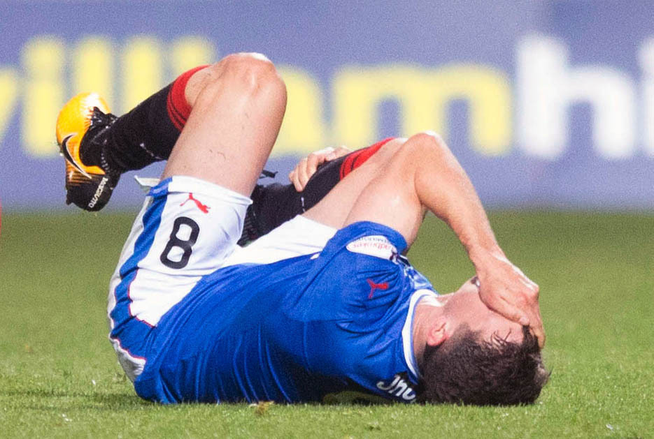 No big deal: Ryan Jack took a sore one in a challenge with Ryan Edwards, but the Partick Thistle player says it was a fair challenge. Photo: Jeff Holmes/PA Wire.