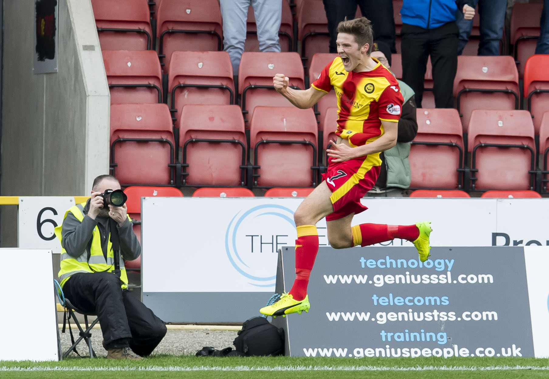 Focused: Blair Spittal has been producing the goods for Partick Thistle since his summer arrival.
