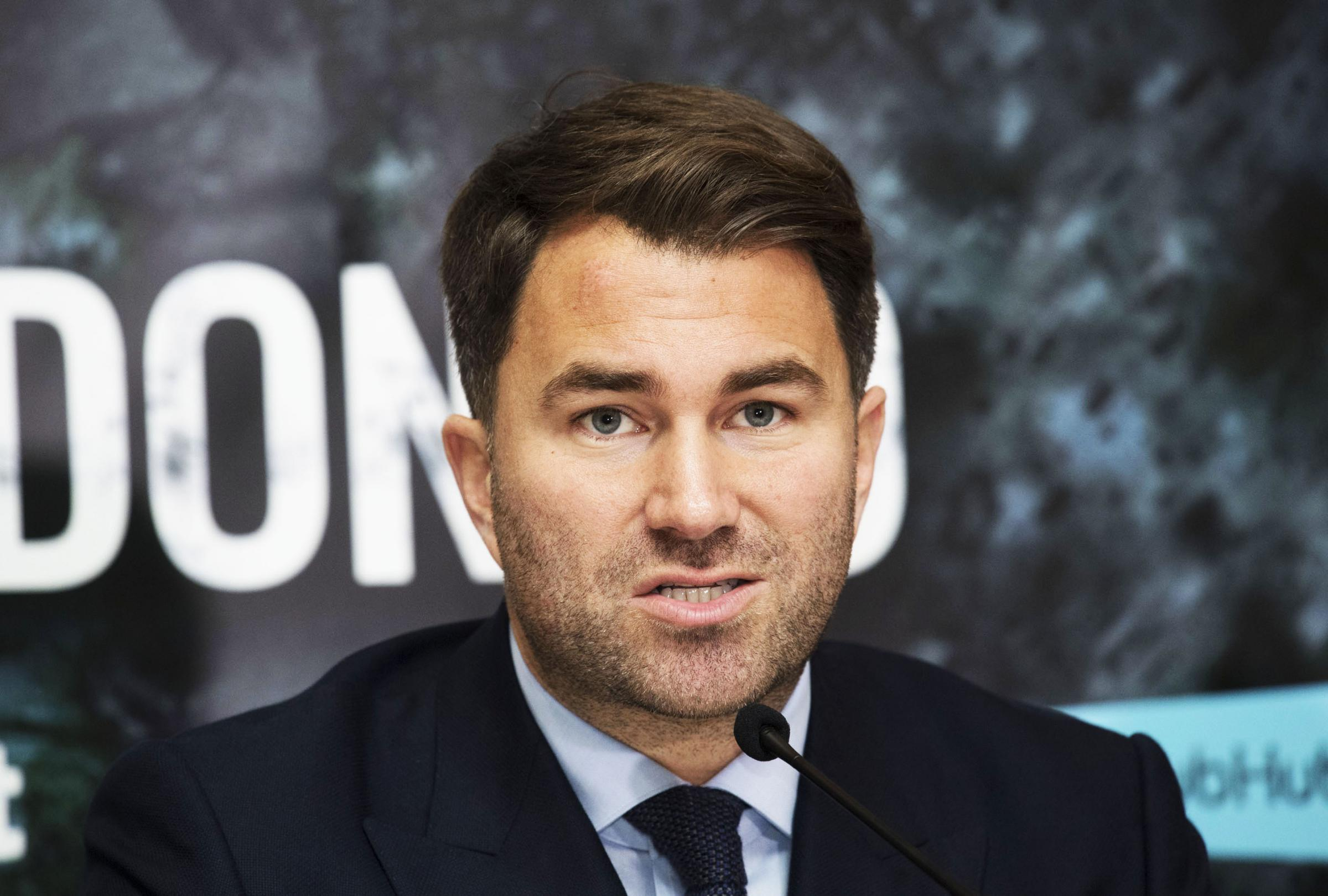 Money talks: Promoter Eddie Hearn says that money, and not titles, should be the priority of Ricky Burns and Anthony Crolla.