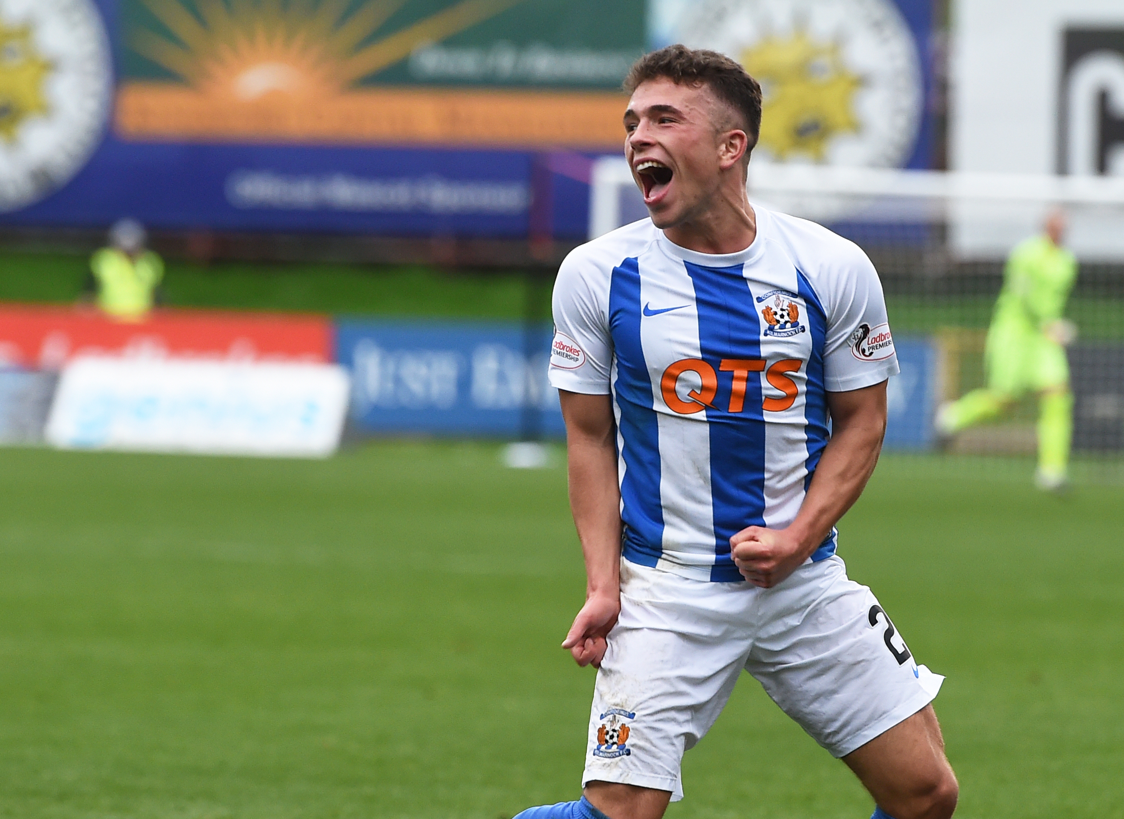 More to come: Adam Frizzell thinks that Kilmarnock are ready to show their best after a poor start to the season.