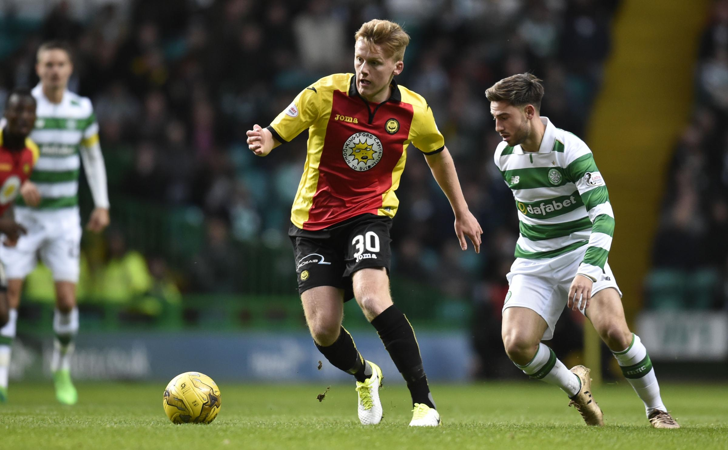 Dream debut: Andy McCarthy made his first league appearance for Partick Thistle in last season's draw at Celtic Park.