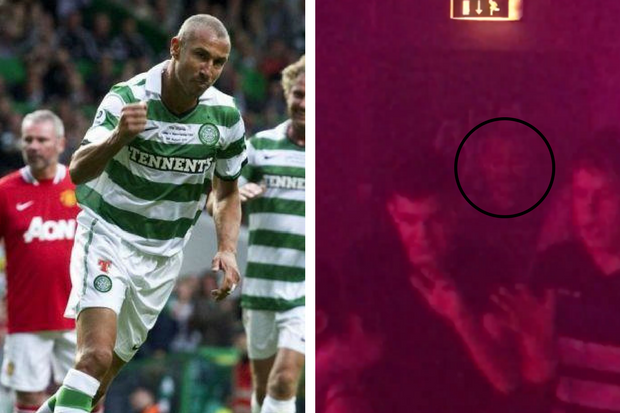 Video: Celtic legend Henrik Larsson does the Macarena in Fury's nightclub
