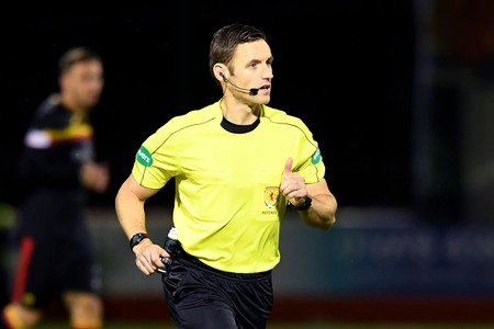 On the spot: Referee Steven McLean was at the centre of more controversy during the Hamilton v Partick Thistle game (Picture: SNS)