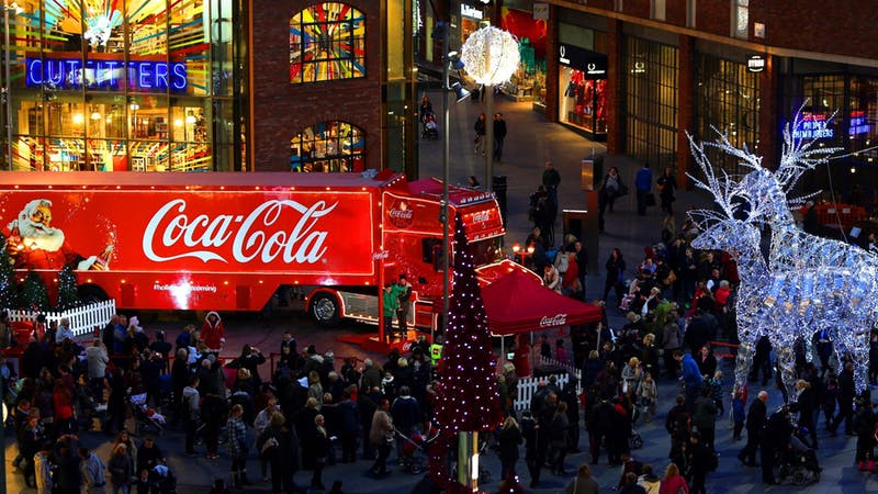 Coca-Cola Christmas truck urged to hand out water instead of fizzy juice