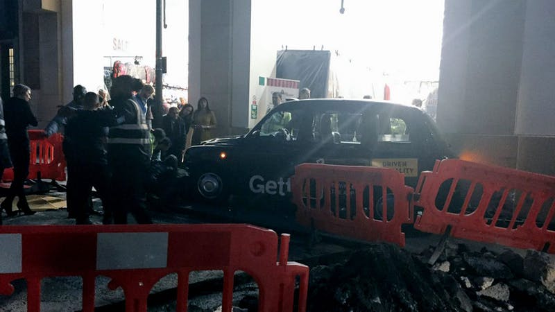 Police probe as taxi collides with pedestrians in central London