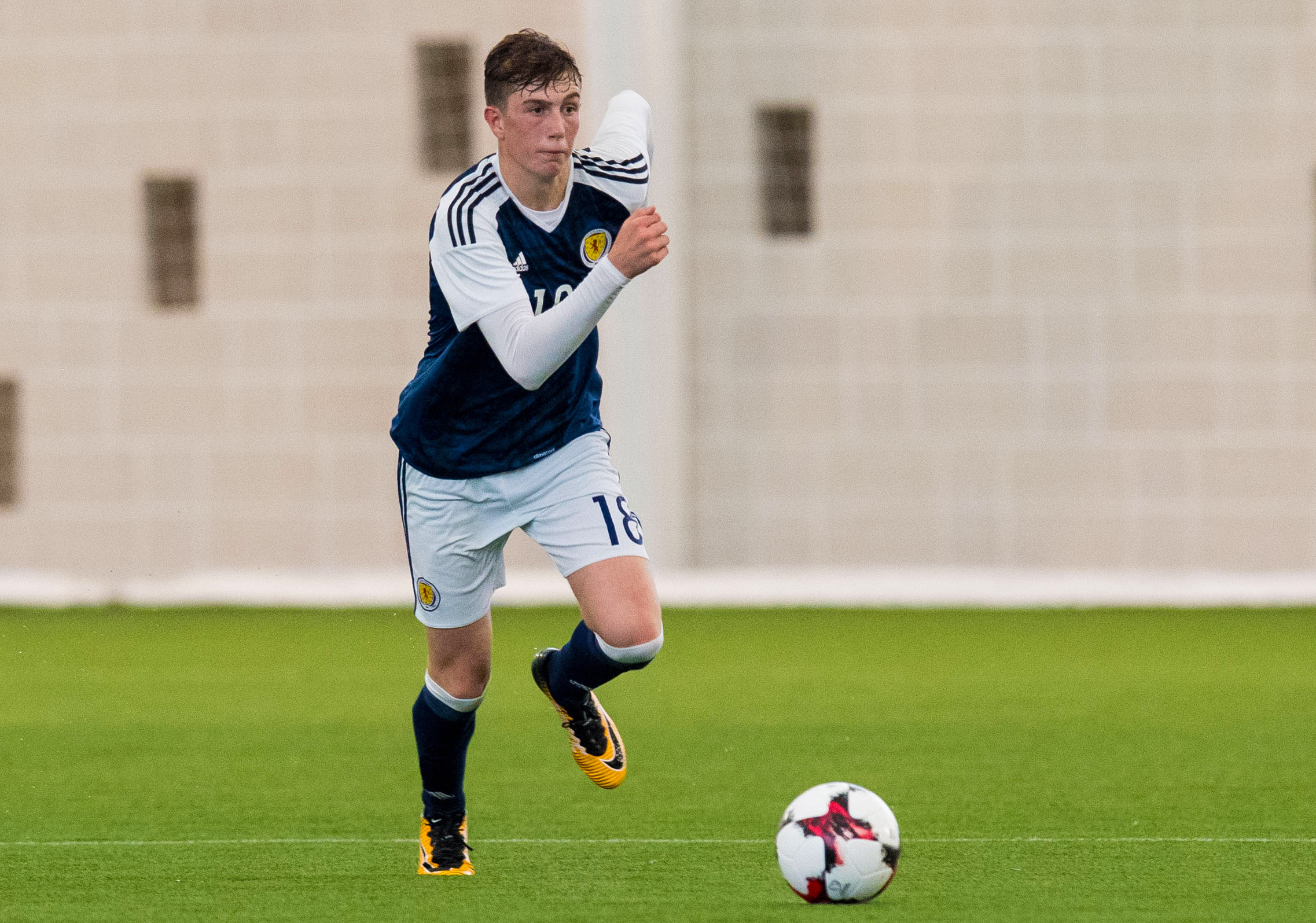 Jensen Weir in action for Scotland