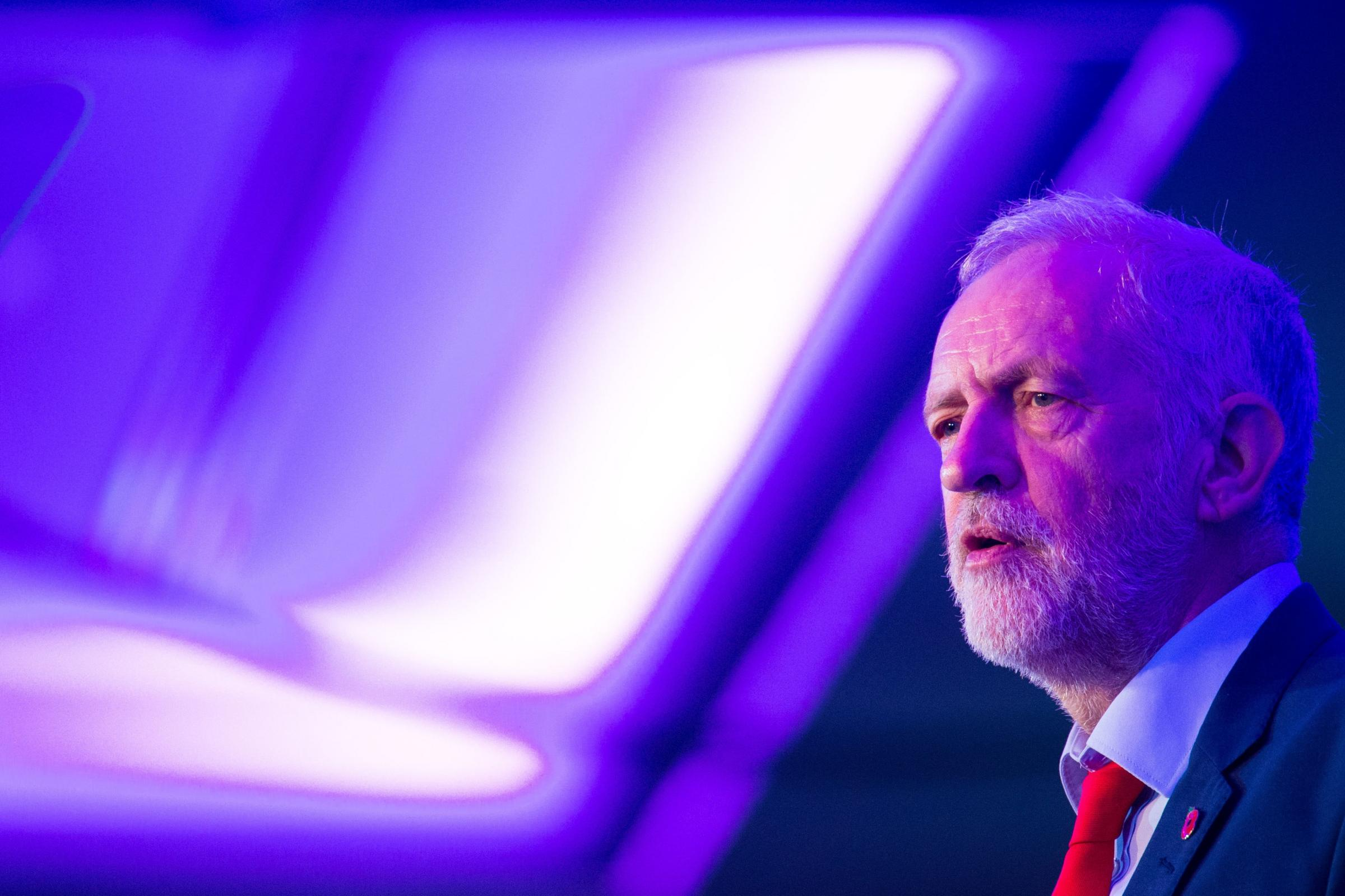 Labour Party leader Jeremy Corbyn addresses the Co-operative Party Centenary Conference., at the Tower Grange Hotel in London.