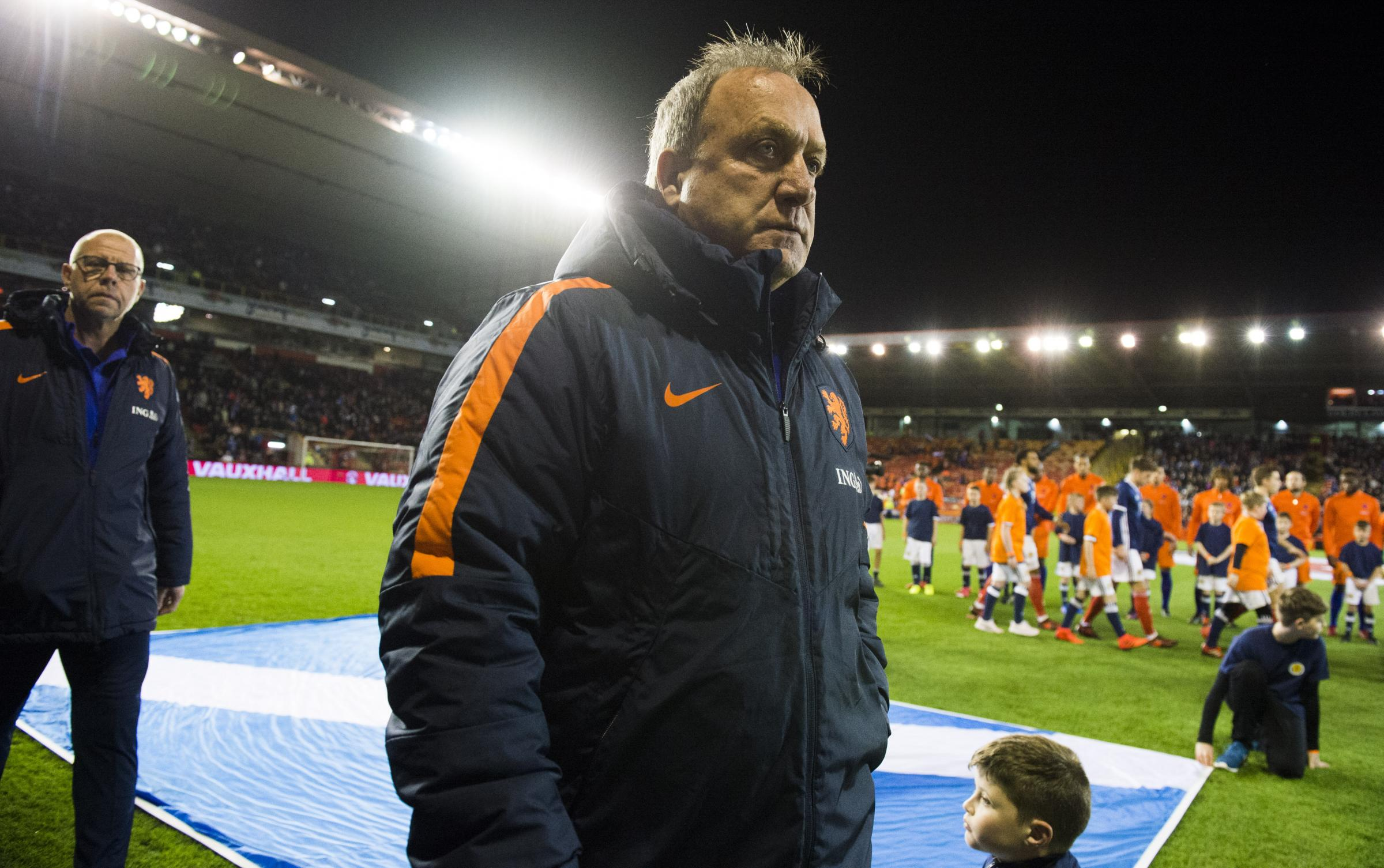 Netherlands manager Dick Advocaat at Pittodrie last night.