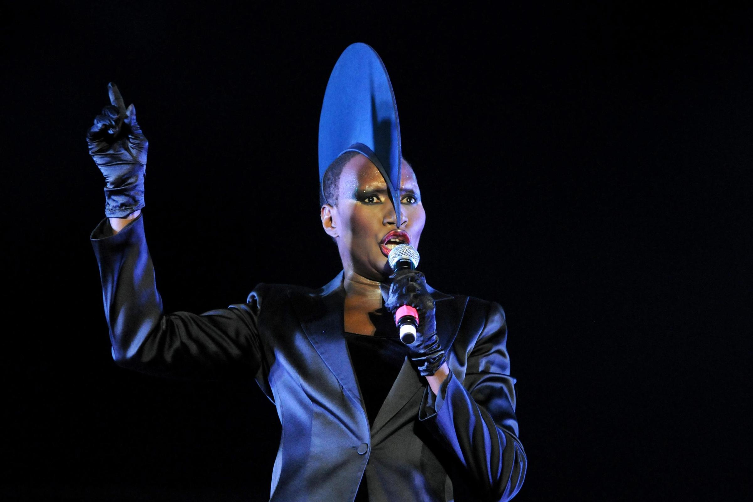 PA File Photo of Grace Jones performing at LoveBox in London, 2010. See PA Feature NOSTALGIA Bond Girls. Picture credit should read: PA Archive/PA Photos. WARNING: This picture must only be used to accompany PA Feature NOSTALGIA Bond Girls