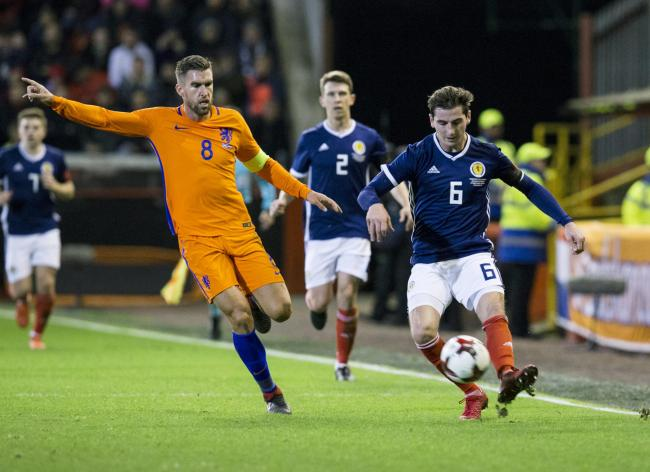 Kenny McLean in action for Scotland against The Netherlands