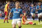 Ross McCrorie has taken some stick from teammate Ryan Hardie over his celebration after bagging his first Rangers goal.