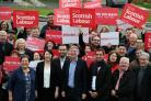 RUTHERGLEN, SCOTLAND - NOVEMBER 19:  The new Scottish Labour leader Richard Leonard, meets with MSPs, EMPs and volunteers at Fernhill Community Centre on November 19, 2017 in Rutherglen, Scotland. Party members voted for Leonard to succeed Kezia Dugdale